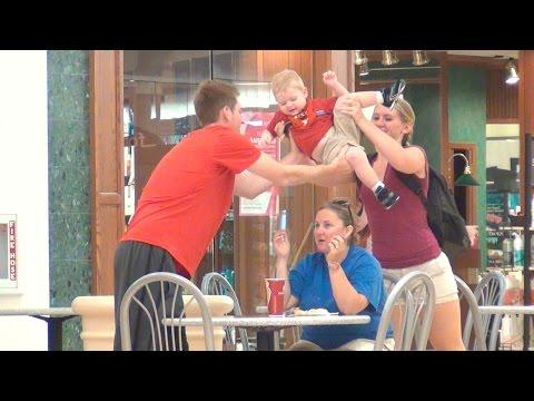 Pulling Out A Cute Kid From People's Hair Prank