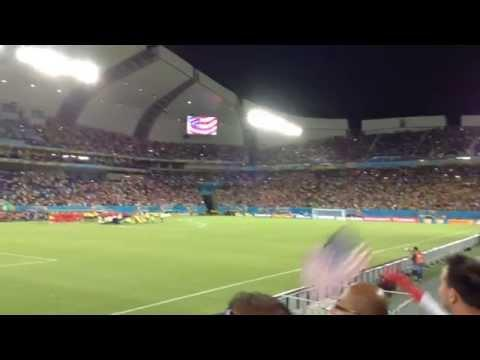 Americans Sing National Anthem Before America Vs Ghana World Cup Game