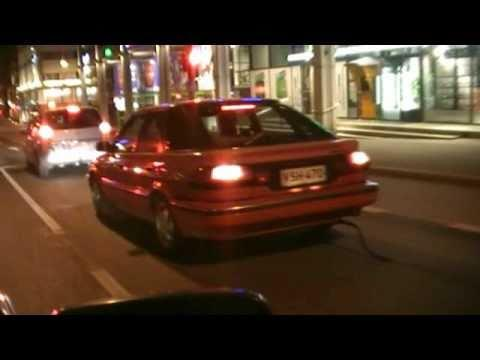 Funny Tire Tube On The Car Exhaust Prank