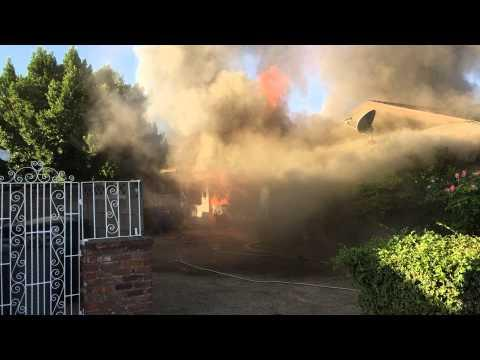 Brave Man Rescues The Old Man From A Burning House