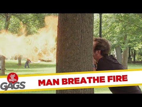 Guy Breathes Fire After Eating Hot Food Prank
