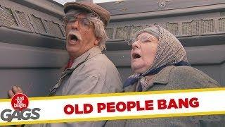 Old Couple Make Out In The Porta Potty Prank
