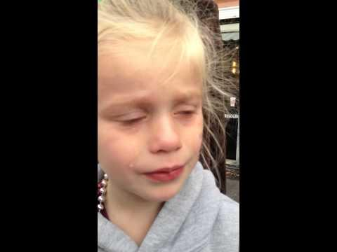 Little Girl Starts Crying Because Mascot Didn't Give High-Five