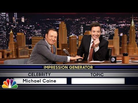 Funny Impressions By Kevin Spacey On Jimmy Fallon's Tonight Show