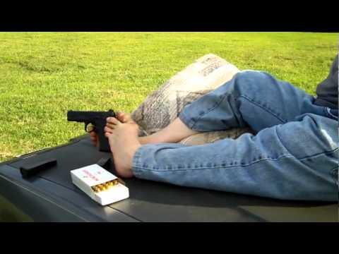 Awesome - Guy Shoots Gun With His Feet