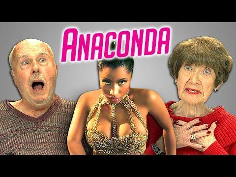 Funny Seniors Reaction To Nicki Minaj's Anaconda Song