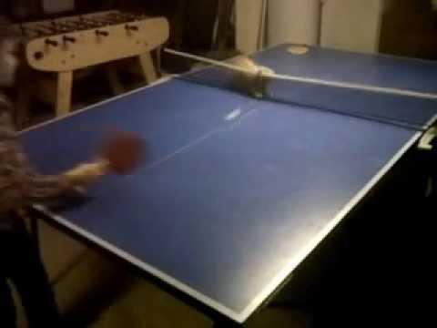 Jokes - Kid And Cat Play Ping Pong