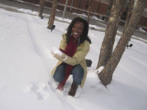 Riesa Pascal From Florida Sees Snow For The First Time