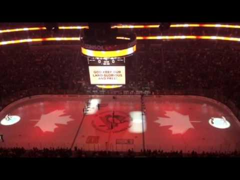 Americans Pay Tribute To Canada At The Philadelphia Vs Pittsburgh Penguins Game