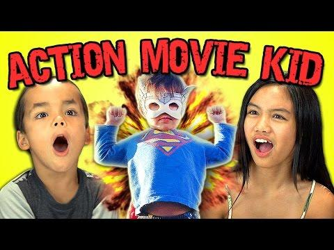 Funny Kids Reaction To Action Movie Kid