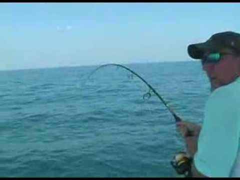 Crazy - Barracuda Jumps Into Fishing Boat