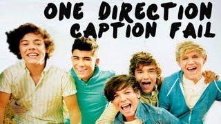One Direction's Popular Songs YouTube Caption FAIL