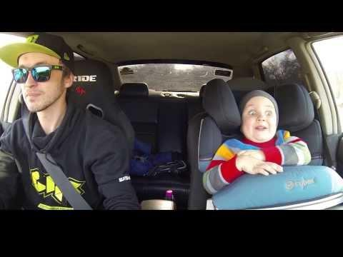 Kid Goes Drifting With His Dad