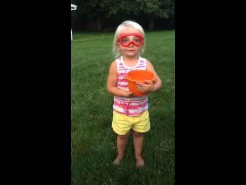 Cute 2 Years Old Does The Ice Bucket Challenge