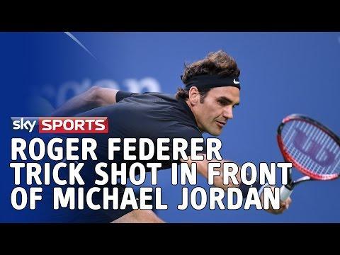 Roger Federer Makes Michale Jordan Smile With His Tweener Shot