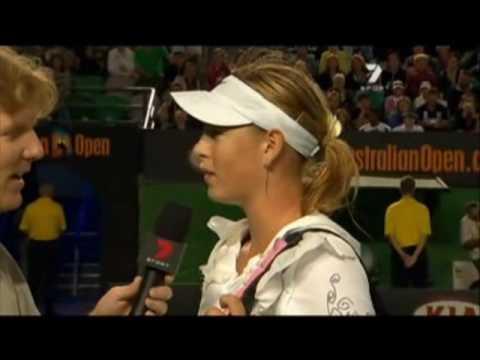 Funny Interview Of Maria Sharapova
