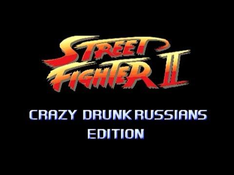 Funny Drunk Russians Fight Turned Into Street Fighter Game