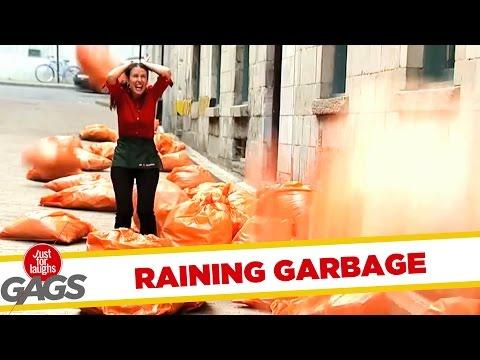 Cloudy With Chance Of Garbage Rain Prank