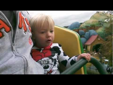 Cute - Little Girl's First Roller Coaster Ride