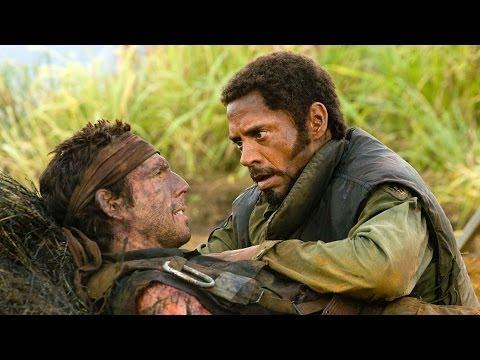 Funny Tropic Thunder Scene Starring Robert Downey Jr And Ben Stiller