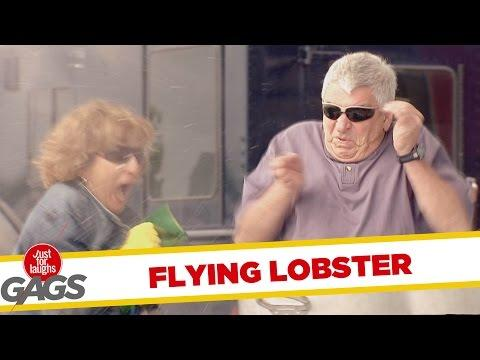 Lobster Flies Out Of The Pot Prank