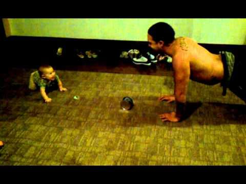 Jokes - Baby Does Push Ups With Daddy