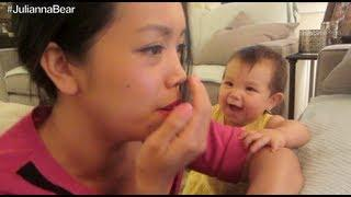 Baby Girl Imitating Mommy's Cough