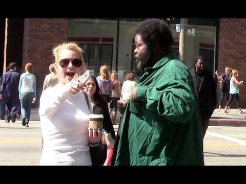 Pranks - Homeless Man Giving Away Money Prank