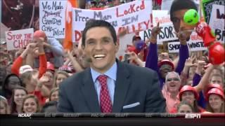 Funny Shirtless Clemson Fan On ESPN