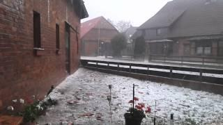 Baseball Sized Hail Storm In Germany