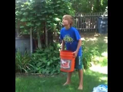 Evan's Ice Bucket Challenge Fail