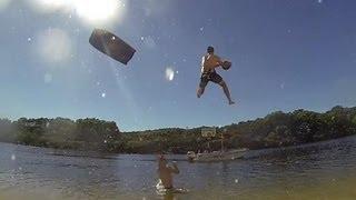 Basketball Trick Shot Using Slip And Slide