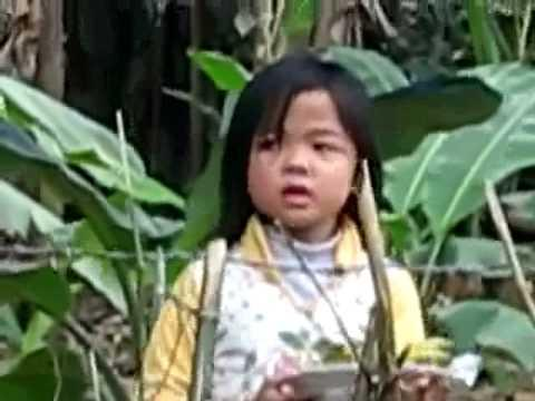 Cute Little Girl Selling Bananas