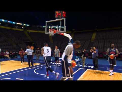 NBA - LeBron's Awesome Basketball Shot