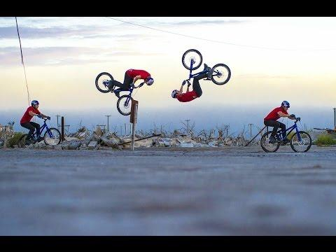Epic First Ever Bump Front Flip By Danny MacAskill
