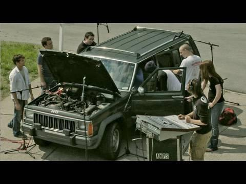 Awesome - Techno Music Played Using A Jeep As Instrument