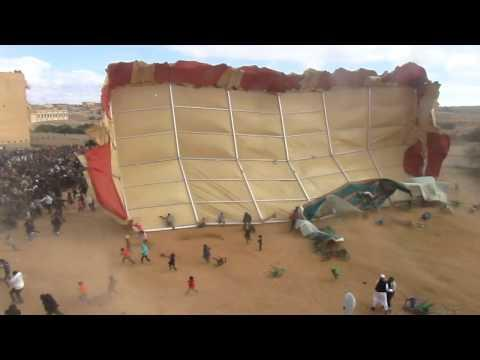 FAIL - Helicopter Blows Away Huge Tent