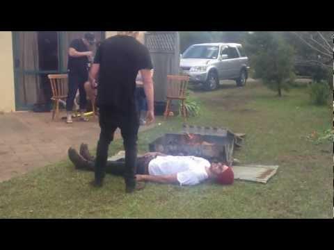FAIL - Stupid Jumping Over A BBQ Stunt FAIL