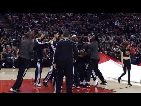 Funny Fight Between Brooklyn Nets Players Before Game Against Toronto Raptors