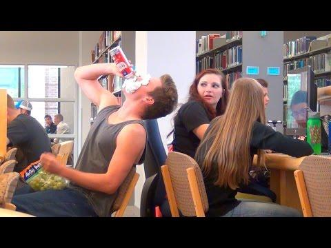 Guys Eat So Loudly At The Library Prank