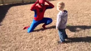Soldier Returning Home Dresses Up As Spider-Man And Surprises Son