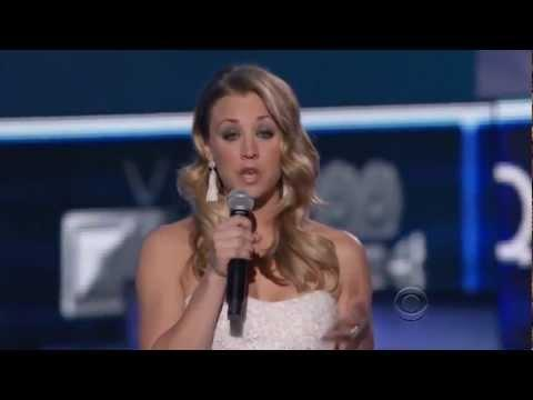Funny Moments Of Kaley Cuco (Penny) From People's Choice Awards 2012