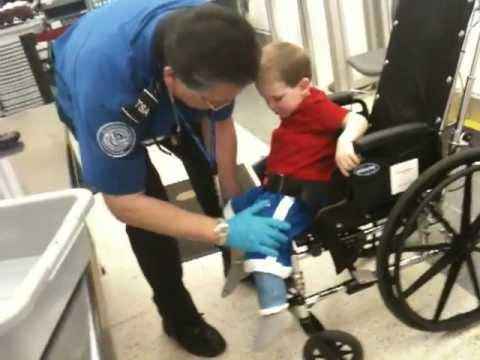 FAIL - TSA Searches Disabled Kid