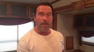 Arnold Schwarzenegger Saying Room For My Fist