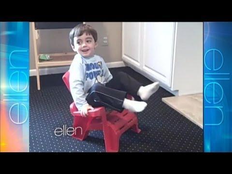 Cute - Kid Tries To Be Like Ellen