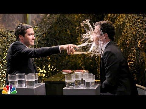 Funny Water War Game Between Jimmy Fallon And Jake Gyllenhaal