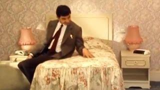 Mr. Bean Tests Out The Hotel Bed