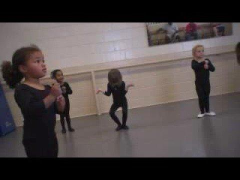 Cute - Little Girl Has Hard Time Standing In Ballet's First Position