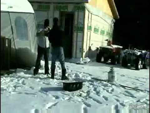 Pranks - Guy Falls For The Nutshot Prank