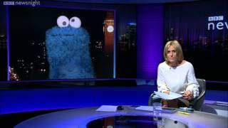 Cookie Monster On BBC News